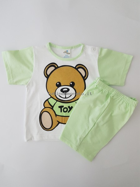 tutina completino cotone jersey orso toy