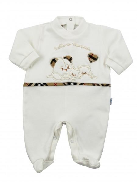come scegliere qualità incredibile di prim'ordine Tutina neonato e neonata cotone interlock tutti a nannna bianco panna 0-1  mese