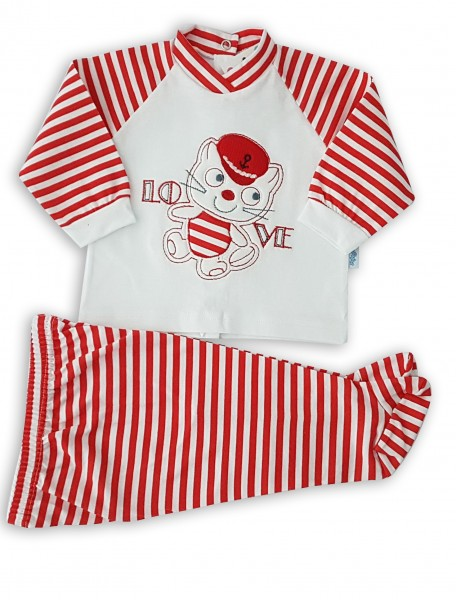 completino in cotone jersey  Rosso 3-6 mesi