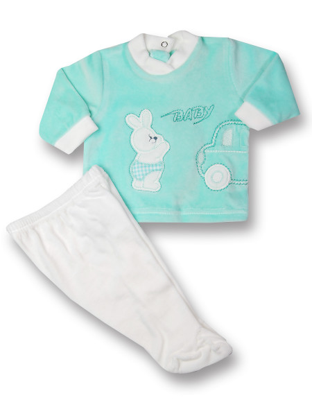 Completino neonato 2 pz Baby rabbit & car